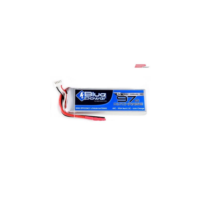 EP BluePower - 4S 14.8V 3300mAh 30C 97A (4mm)_12366