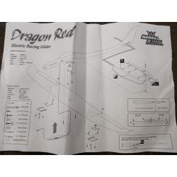 Dragon Red Electric RC Racing Glider - GFK Bausatz mit Antrieb & Servo_15196